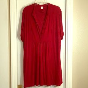Red XXL Old Navy Red Rayon Dress